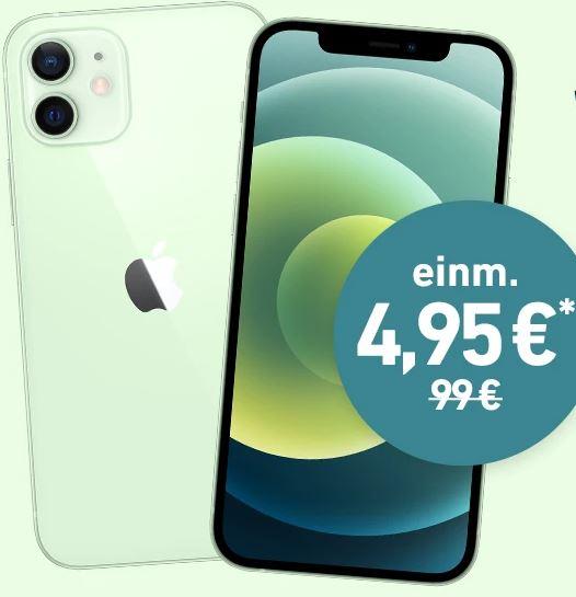 Apple iPhone 12 (64 GB) + o2 Free L Boost Tarif mit 120 GB 5G/LTE für nur 44,99€ mtl. und einmalig 4,95€ Zuzahlung