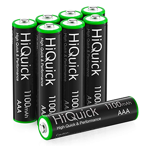 Neuer Gutschein: 8x HiQuick Micro AAA Akkus (1.100 mAh) für nur 4,99€ (statt 9,99€)