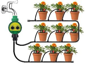 king do way – Automatisches Bewässerungssystem Kit (25m, Timer) für 21,38€