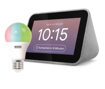 Lenovo Smart Clock mit Google Assistant Inkl. Lenovo Smart Bulb für nur 45,99€ inkl. Versand