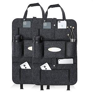 luchild Auto Organizer und Rückenlehnenschutz mit viel Stauraum (2er Set) für 9,91€