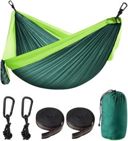 Yumcute Outdoor und Camping Hängematte für 2 Personen (belastbar bis 300kg) für 16,24€