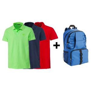 3er-Pack Chiemsee Herren Polo-Shirts + Nordcap Rucksack für nur 35,98€ inkl. Versand