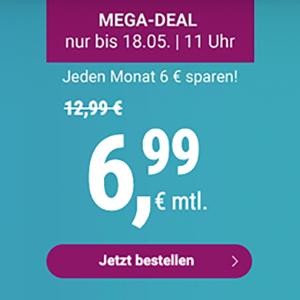 Top! Simply LTE Allnet-Flat, SMS-Flat und 6 GB LTE-Flat mit 3 Monaten Laufzeit für 6,99€ mtl. – 20 GB für 19,99€