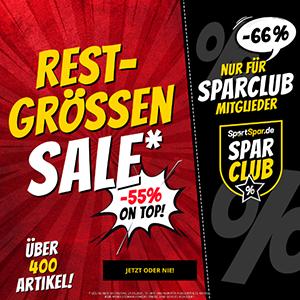 Bis zu 66% Extra-Rabatt auf hunderte Artikel im SportSpar Restgrößen-Sale