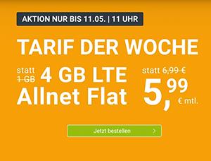 WinSIM Allnet-Flat mit 4 GB Datenvolumen für 5,99€ pro Monat (monatlich kündbar) – 8 GB für 8,99€, 16 GB für nur 14,99€
