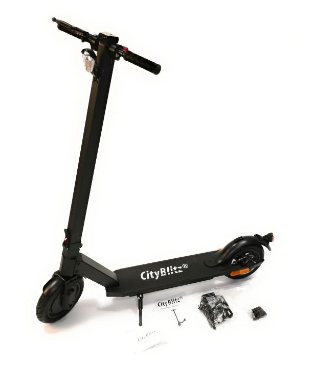 CityBlitz E-Scooter Moove Elektroroller Straßenzulassung 8,5″ Reifen Schwarz für nur 239€