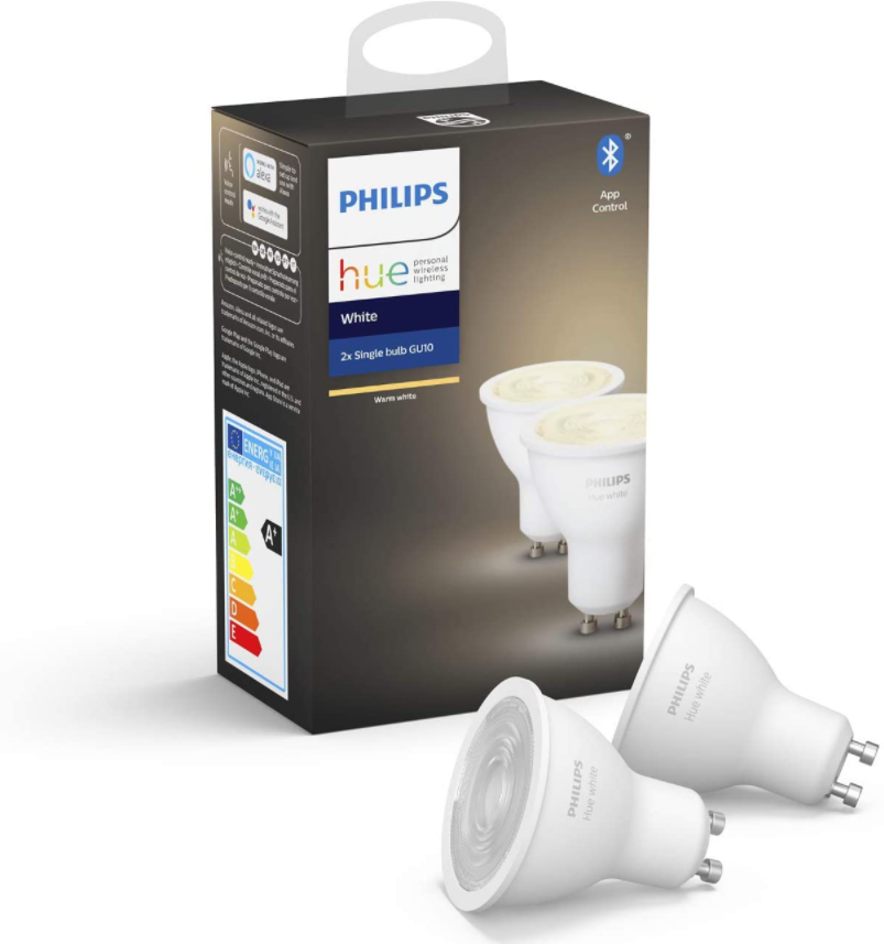 Philips Hue White GU10 5,2W Bluetooth Doppelpack für 24,99€