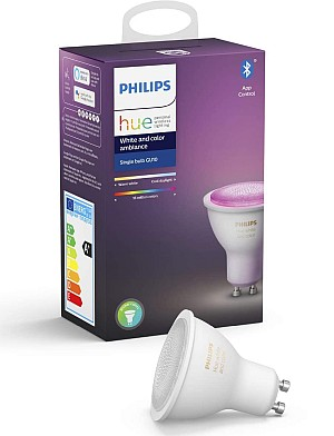 Philips Hue White and Color Ambiance (5,7W, GU10, Bluetooth) für 32,99€