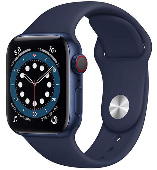 Apple Watch Series 6 (GPS + Cellular, 40 mm) Blau Aluminium Sportarmband Dunkelmarine für nur 426,29€ (statt 485€)