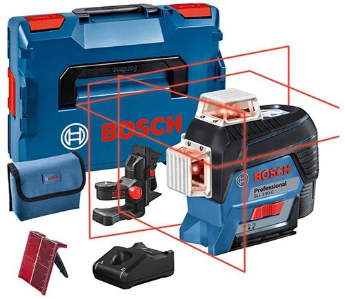 Bosch Professional System Linienlaser GLL 3-80 C (1x Akku 12V, Universalhalterung BM 1, 30 m) mit L-BOXXX für 361,16€