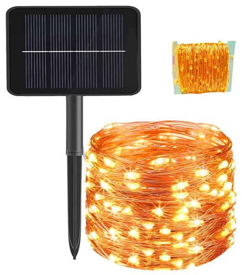Brisun wasserdichte Solar Gartenlichterkette (24m, 300 LEDs, 8 Modi) für nur 7,99€