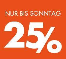 25% Extra-Rabatt auf Taschen, Reisegepäck, Shirts und Frottierwaren bei Galeria