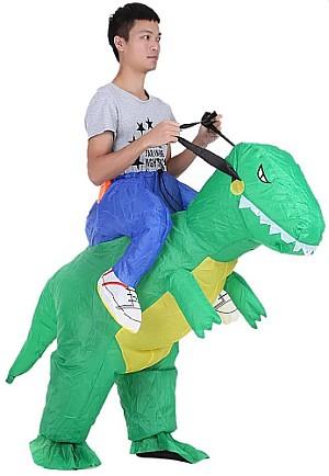 Anself Aufblasbares Huckepack Dinosaurier Kostüm für 21,67€