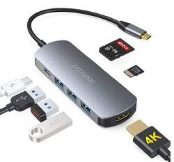 Dodocool DR-4EXT-3P3N 7-in-1 USB-C Hub mit HDMI und Kartenleser für 19,99€