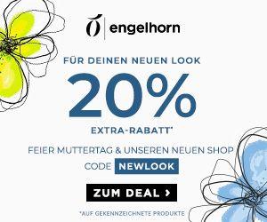 20% Gutscheincode zum Muttertag auf viele Produkte im Engelhorn Onlineshop