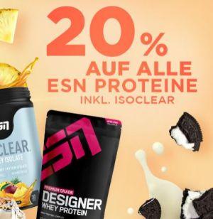 Fitmart: 20% Rabatt auf alle ESN Proteine + 20% Rabatt auf alle ESN-Aminos!