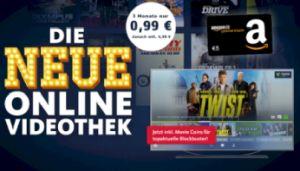 Knaller: Freenet Video 3 Monate für einmalig 0,99€ inkl. 5€ Amazon Gutschein