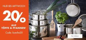 20% Rabatt auf Töpfe & Pfannen im Galeria Kaufhof Onlineshop