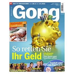 Jahresabo (52 Ausgaben) GONG für nur einmalig 29,95€ (statt 130€)