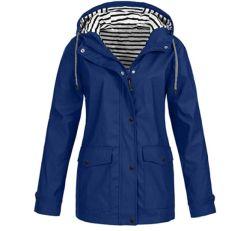 GZYshoyao Damen Regenjacke mit Kapuze für 18€