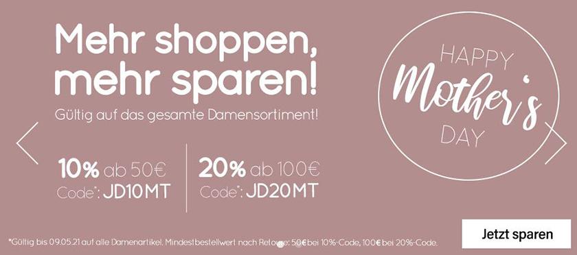Bis zu  20% Rabatt auf alle Damenartikel im Jeans-Direct Online-Shop (MBW: 50€)