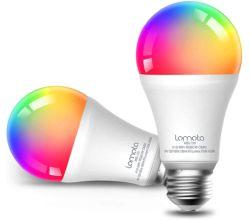 Doppelpack lomota W-Lan Smart RGB Leuchtmittel E27 für nur 9,99€