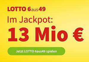 Morgen 13 Mio. Lotto-Jackpot: 5 Felder 6aus49 für 1€ statt 6€ als Lottohelden Neukunde spielen