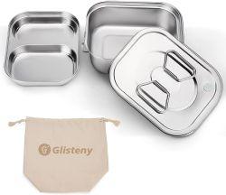 Glisteny Edelstahl Lunchbox mit 3 Fächern für 9,95€