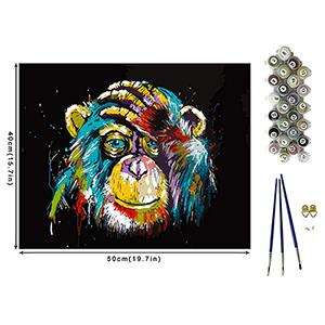 BOZHZO Malen Nach Zahlen Leinwand (40 x 50 cm) für nur 7,99€ inkl. Prime-Versand