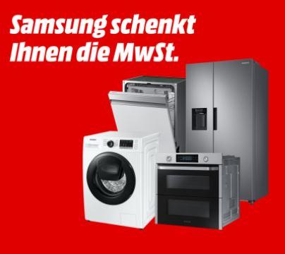 Samsung Mehrwertsteueraktion – 19% MwSt. geschenkt auf ausgewählte Haushaltsgroßgeräte