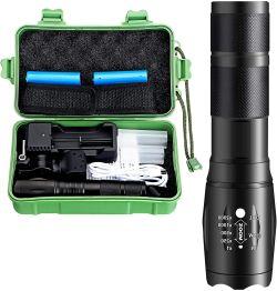 OUTERDO LED Taschenlampen-Set mit 2 Akkus für 13,29€