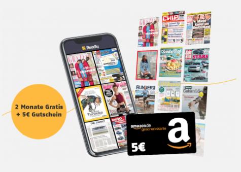 Top! 2 Monate Readly Zeitschriften-Flatrate mit über 5.000 Magazinen kostenlos testen + 10€ Amazon-Gutschein!