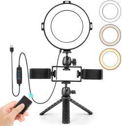 Andoer 15cm LED Ringlicht mit Mini-Stativ für 18,19€ statt 25,99€