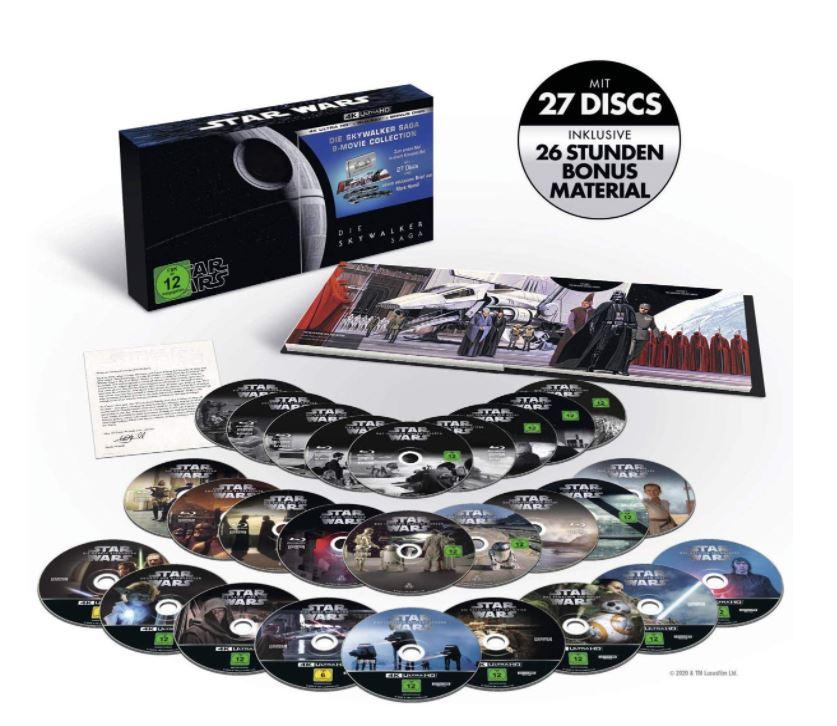 Star Wars 1 - 9 - Die Skywalker Saga 4K Ultra HD Blu-ray