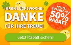 Nur heute: 12 Felder SuperLotto für 6€ statt 12€ bei Lottohelden.de