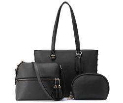 JOSEKO Damen Taschen-Set mit Shopper, Umhängetasche und Geldbörse für 23,99€