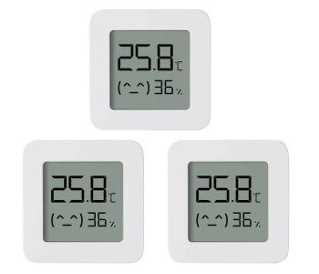3er Pack Xiaomi Bluetooth Thermometer 2 mit Feuchtigkeitssensor nur 14,59€