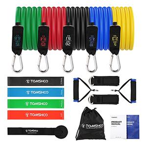 TOMSHOO Home Workout Set (Widerstandsbänder & Zubehör) für nur 14,99€ bei Amazon