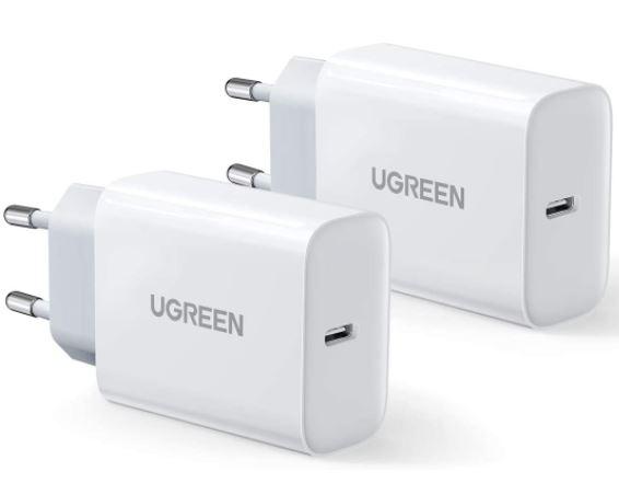 2er Pack UGREEN USB C 20W PD Ladegerät für nur 14,99€
