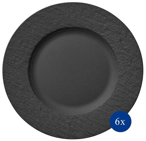 Villeroy & Boch Manufacture Rock Speiseteller Set (6-tlg.) für nur 69,99€ inkl. Versand (statt 94€)