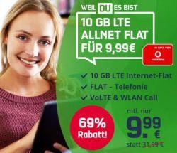 Pfingstdeal: MD Vodafone Green LTE 10 GB Tarif für 9,99€ mtl.