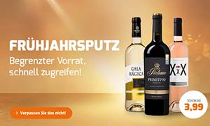 Weinvorteil Frühjahresputz-Aktion mit über 200 reduzierten Weinen + 10% Extra-Rabatt