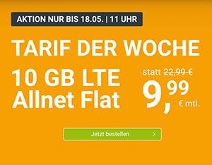 WinSIM Allnet-Flat mit 10 GB Datenvolumen für 9,99€ pro Monat (monatlich kündbar) – 20 GB für 19,99€