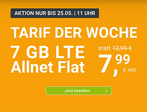 WinSIM Allnet-Flat mit 7 GB Datenvolumen für 7,99€ pro Monat (monatlich kündbar) – 20 GB für 19,99€