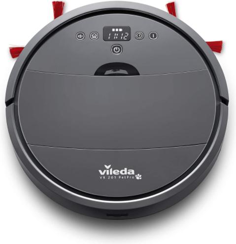 Vileda VR 201 PetPro Saugroboter (optimiert für Tierhaare, 90 Minuten Laufzeit), Kunststoff, dunkelgrau, 32 x 8 cm für nur 99€ inkl. Versand