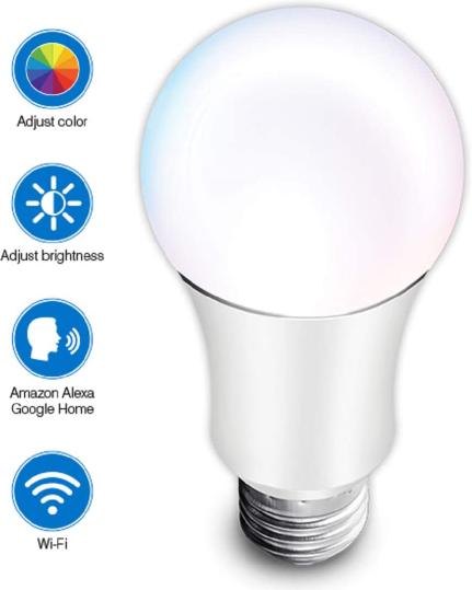 Hauppauge mySmarthome WiFi LED RGB Lampe E27 für nur 9,99€ inkl. Versand