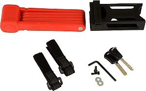 FISCHER Faltschloss inkl. Halterung und 2 Sicherheitsschlüsseln (rot, 85cm) für 13,93€