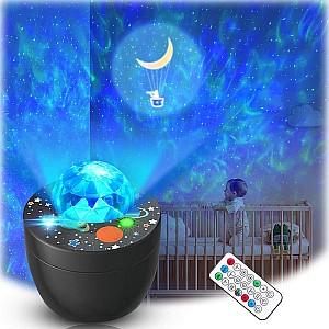 Lupantte Sternenhimmel Nachtlicht Projektor mit Musik für 14,99€