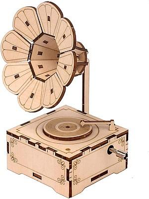 Geschenkidee: Retro Phonograph 3D Holzpuzzle für 4,99€